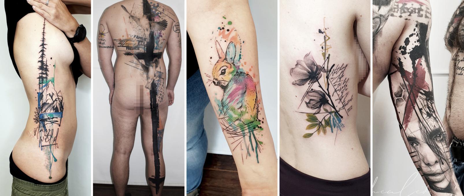 Stechpunkt Trash Watercolor Tattoo